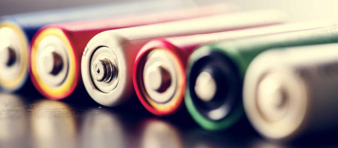 Pile of alkaline battery background